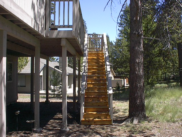 Deck Stairs in Sunriver, OR