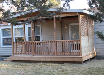 Crooked River Ranch Covered Deck