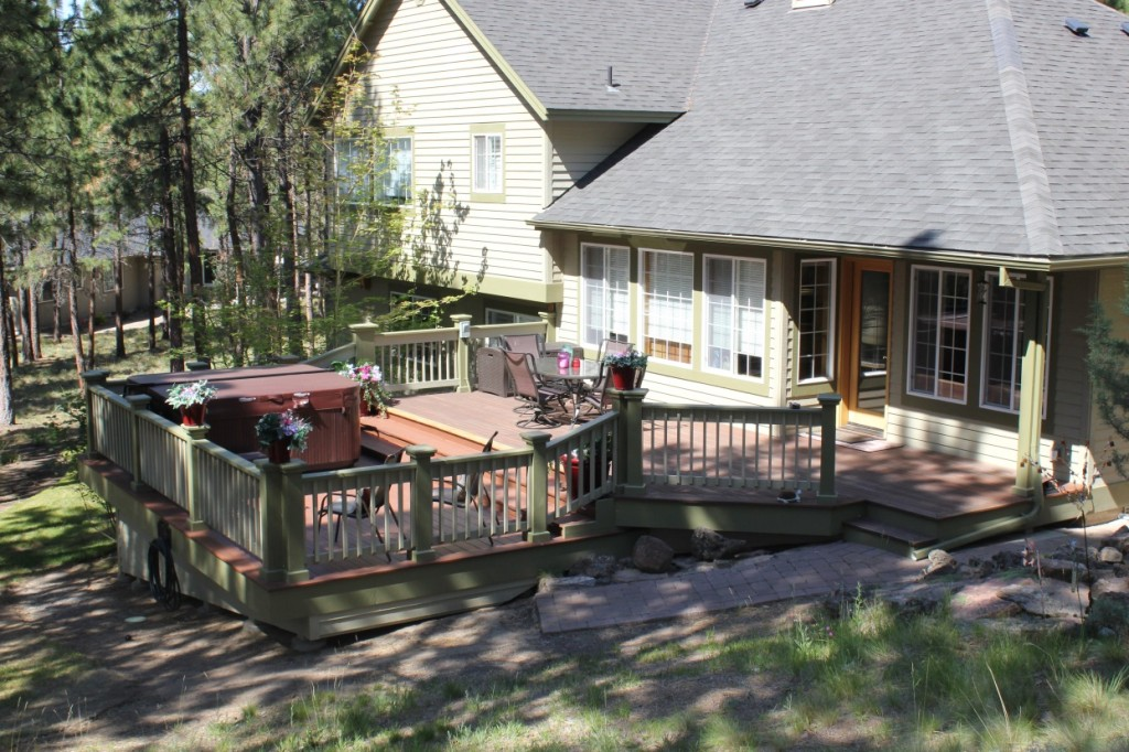 Back deck extended on house in Bend, OR.