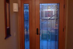 new wood door after