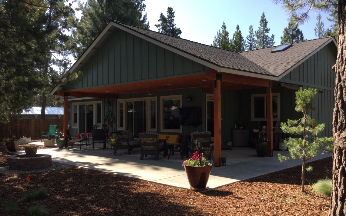 Covered Porch Built in Sunriver OR