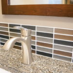 accent tiles in newly remodeled bathroom