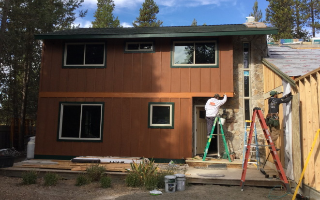 This is a whole house renovation and garage addition in Bend, OR.